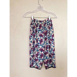 VINTAGE 1990's floral flower knee lounge shorts
